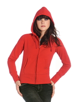 B&C Women Hooded Sweat Jacket