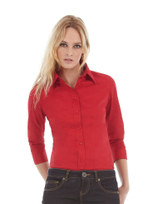 B&C Milano Popeline Stretch 3/4 Arm-Bluse