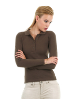 B&C Safran Pure Women Langarm Polo